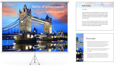 London Tour Modelos de apresentações PowerPoint