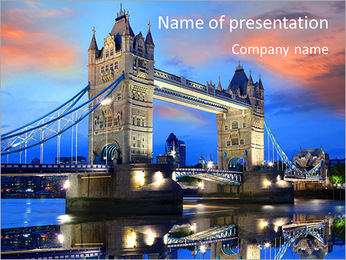 London Tour Modelos de apresentações PowerPoint - Slide 1