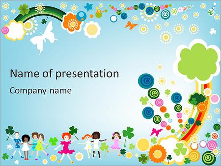 children illustration powerpoint template backgrounds google