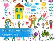 Cute Children's Pictures PowerPoint Templates