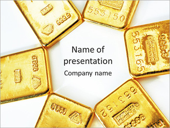 Bars Of Gold PowerPoint Template