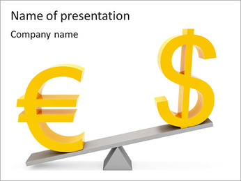 Rate of Dollar And Euro PowerPoint Template