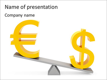 Dollar Vs Euro Currency PowerPoint Template