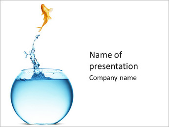 Jumping Golden Fish PowerPoint Template