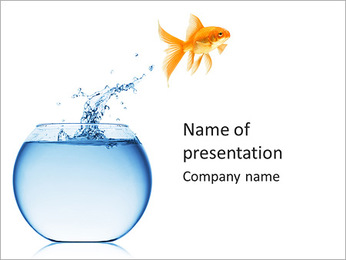 Golden Fish PowerPoint Template