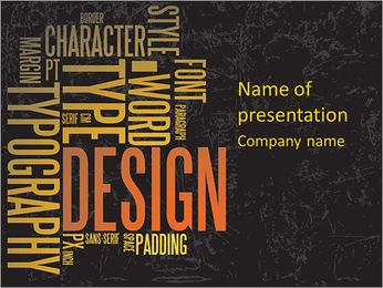 Font Design PowerPoint Template