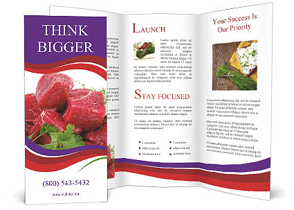 Slices Of Meat Brochure Template Design ID 0000003672