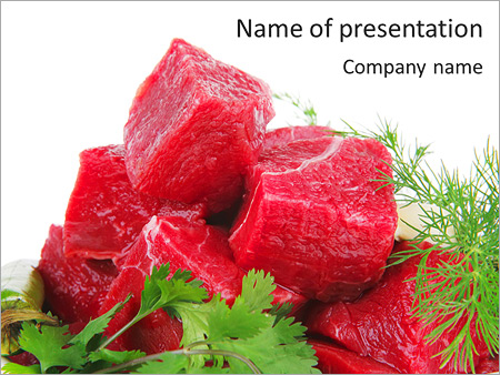 Slices of meat powerpoint template backgrounds id 0000003672 slices of meat powerpoint template toneelgroepblik Choice Image