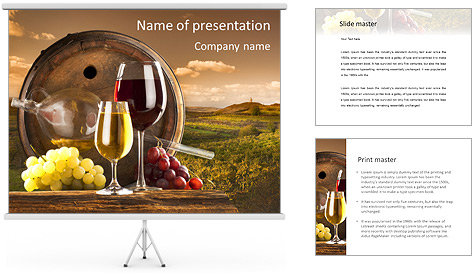 Wooden Barrel With Wine PowerPoint Template Backgrounds ID – Powerpoint Flyer Template