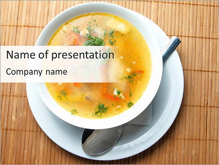 Soup With Vegetables PowerPoint Template, Backgrounds & Google ...