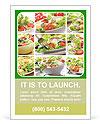 Vegetable Salad Ad Template