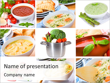 soup menu powerpoint template & backgrounds id 0000003680, Modern powerpoint