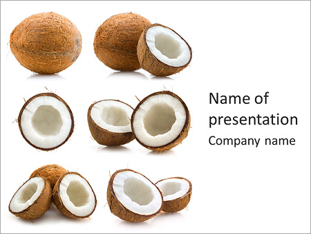 Tropic coconut powerpoint template backgrounds id 0000003682 tropic coconut powerpoint templates toneelgroepblik Image collections