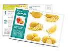 Sour Lemon Postcard Templates
