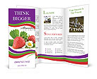 Fresh Strawberry Brochure Templates