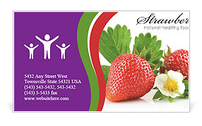 Fresh Strawberry Business Card Templates