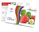 Fresh Strawberry Postcard Templates