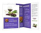 Glass Of Red Wine Brochure Templates