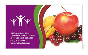 Mixed Fruits Business Card Templates