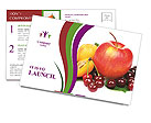 Mixed Fruits Postcard Templates