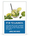 Mojito Cocktail Ad Template