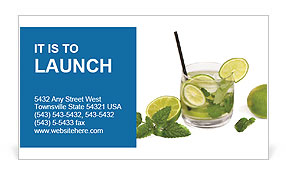 Mojito Cocktail Business Card Templates