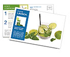 Mojito Cocktail Postcard Templates