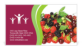 Summer Berries Business Card Template