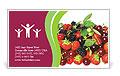 Summer Berries Business Card Template