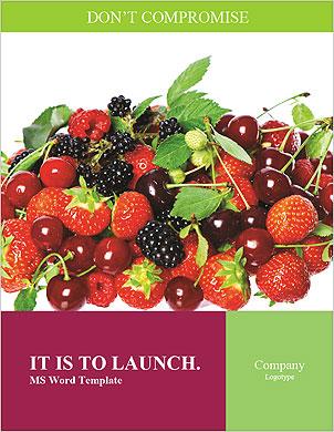 Летние ягоды Словарные шаблоны - Страница 1