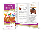 Happy Birthday Cake With Candles Brochure Templates
