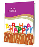 Happy Birthday Cake With Candles Presentation Folder