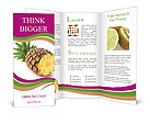 Juicy Pineapple Brochure Templates