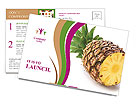 Juicy Pineapple Postcard Templates
