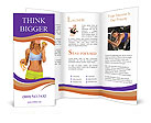 Sporty Young Woman Brochure Templates
