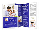 Feeding Two Children Brochure Templates