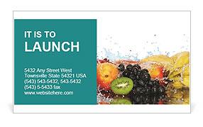 Fruits Set Business Card Template