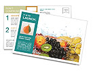 Fruits Set Postcard Templates