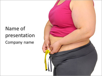 Fat Women On Diet PowerPoint Template