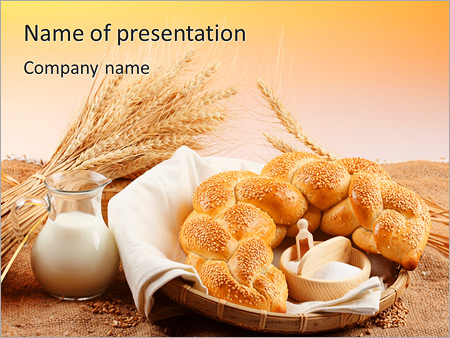 Bread with milk powerpoint template backgrounds id 0000003708 bread with milk powerpoint templates toneelgroepblik Images