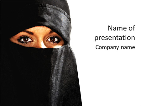 muslim woman powerpoint template & backgrounds id 0000003709, Modern powerpoint