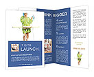 Housewife Ironig Brochure Templates