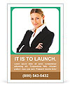 Elegant Businesswoman Ad Template
