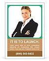Elegant Businesswoman Ad Templates