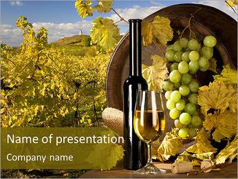 Bouteille de bon vin Modèles des présentations  PowerPoint