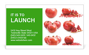 Pomegranate Fruit Business Card Template