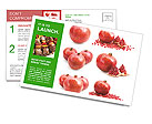 Pomegranate Fruit Postcard Templates