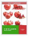 Pomegranate Fruit Word Template