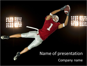 American Football Player PowerPoint Template