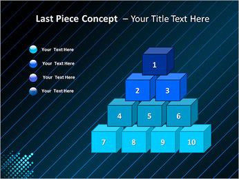 Bleu Couleur-Design Modèles des présentations  PowerPoint - Diapositives 11